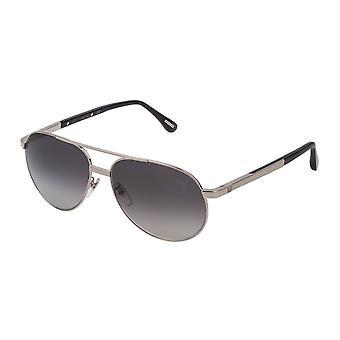 Dunhill SDH138 0579 Shiny Palladium/Smoke Gradient Sunglasses