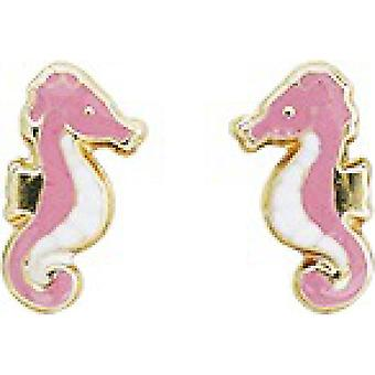 Ohrringe Hippocampus Gold 375/1000 gelb (9K)