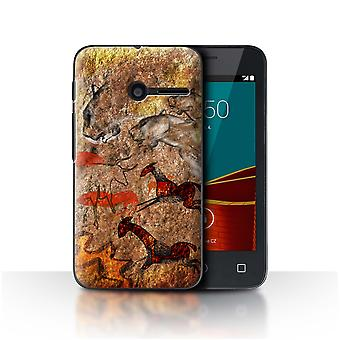 STUFF4 Case/Cover for Vodafone Smart First 6/Stampede/Red/Cave Painting