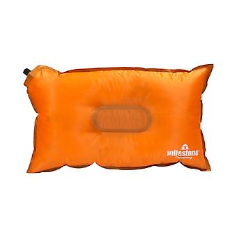 Milestone Self Inflating Camping Pillow Orange 50 x 30 x 8cm