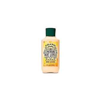 (2 Pack) Bath & Body Works Clementine & Mint Leaves Super Smooth Body Lotion 8 oz / 236 ml