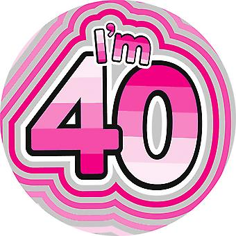Expression Factory Womens/Ladies I Am 40 Giant Badge