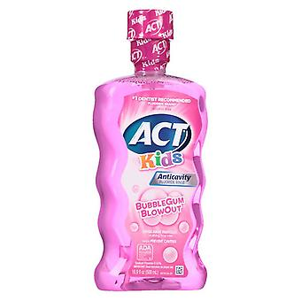 Act kids anti-cavity fluoride rinse, bubblegum, 16.9 oz