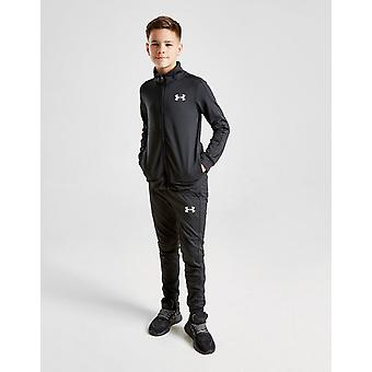 New Under Armour Boys' Poly Tracksuit Black