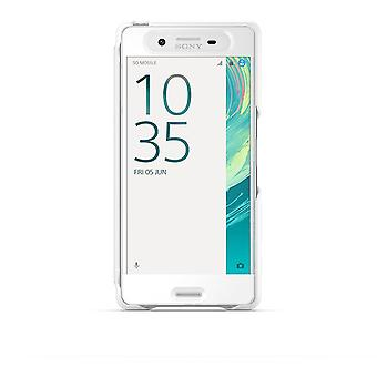 Sony SCR50 Smart Style Touch Hülle Cover für Xperia X - weiss