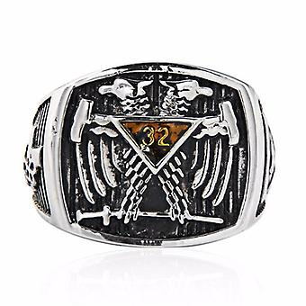 32 degree double-headed eagle masonic ring