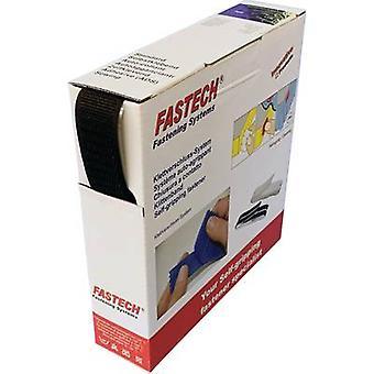 FASTECH® B25-SKL01999910 Krok-och-slinga tejp stick-on (smältlim) Loop pad (L x W) 10 m x 25 mm Svart 10 m