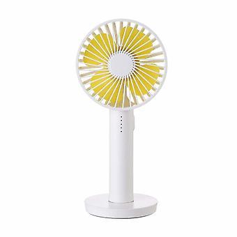 Hand ventilator/Table ventilator oplaadbaar met make-upspiegel