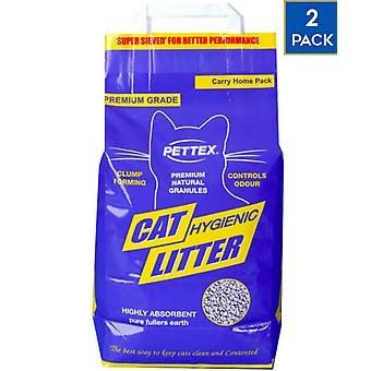 2 x 3kg Pettex Grey Clump Cat Litter Odour Control Dust Free Hygenic Natural