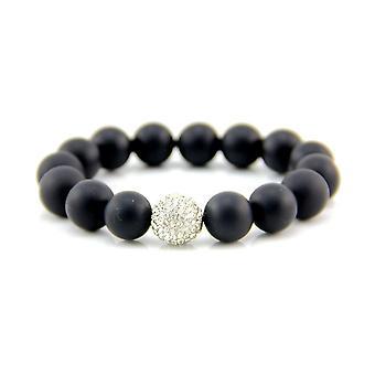 12mm Matte Black Onyx Stretch Bracelet
