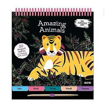 My Scratch Art - Amazing Animals by Lizzie Preston - 9782733873892 Book