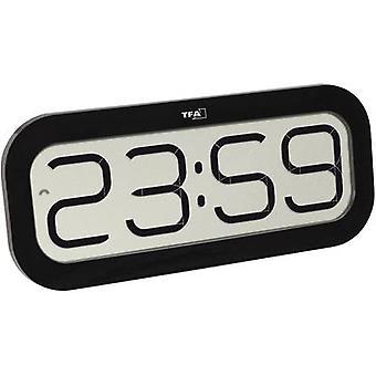 TFA Dostmann 60.4514.01 Radio Wall clock 28 mm x 321 mm x 140 mm Black