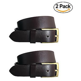 Bradley crompton pánske multipack hnedej && hnedé dvojča balenie plné kožené zrno ležérne formálne pásy