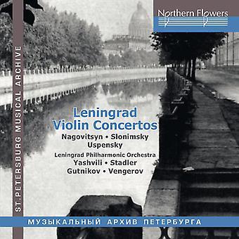 Leningrad Violin Concertos Nagovitsyn / Slonimsky: [CD] USA import