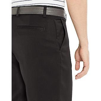 Essentials Men's Standard Classic-Fit Stretch Golf Scurt, Negru, 42
