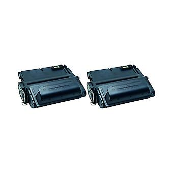RudyTwos 2x Replacement for HP 38A/39A/42A/45A Toner Unit Black Compatible with Laserjet 4345, 4345MFP, 4345dtn, 4345dtnsl, 4345dtnxm, 4345x, 4345xm, 4345xs, M4345MFP, M4345dtn, M4345dtnsl, M4345dtnxm
