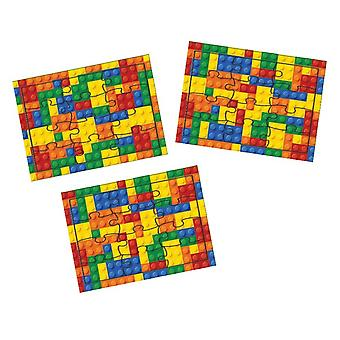 Single Building Brick or Block Puzzle for Kids Party Bags