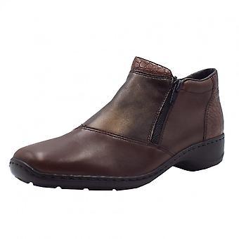 ريكر 58359-25 أحذية الكاحل Mahoni مريحة في مزيج براون