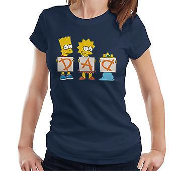 The Simpsons Dad bogstaver-T-shirt til kvinder