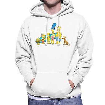 A camisola dos Simpsons surf Family Men ' s com capuz