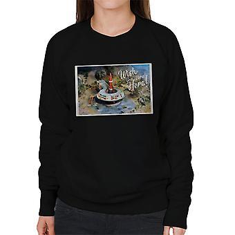 Thunderbirds Wish You Were Here Postcard Design Frauen's Sweatshirt