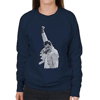 Freddie Mercury Of Queen Live In Newcastle 1986 Women's Sweatshirt