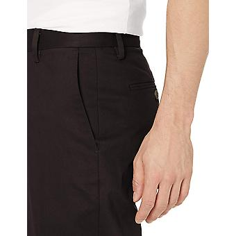 Goodthreads Men's Athletic-Fit Wrinkle Free Dress Chino Pant, Black, 38W x 28L