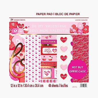 Craft Smith Be My Valentine 12x12 Inch Paper Pad