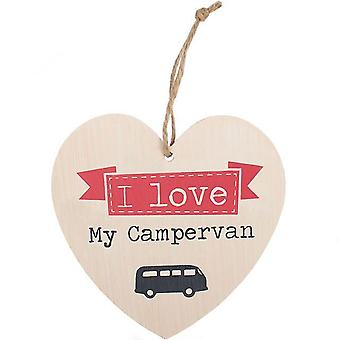 I Love by Campervan heart wall plaque by Jones Home & Gift