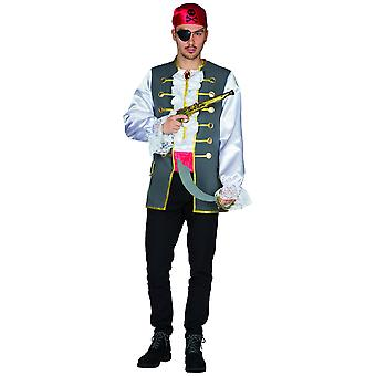 Pirata Hank Mens Pirata Marinaio Costume Carnevale