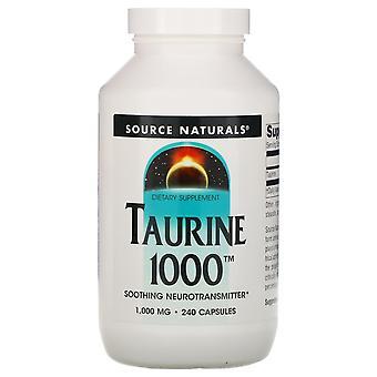Source Naturals, Taurine, 1,000 mg, 240 Capsules