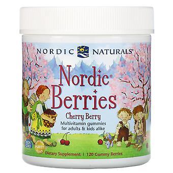 Nordic Naturals, Nordic Berries, Cherry Berry, 120 Gummy Berries