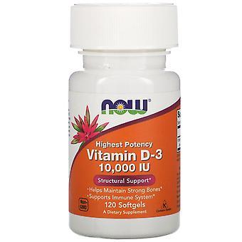 Now Foods, Vitamin D-3, 10,000 IU, 120 Softgels