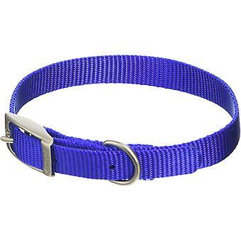 Ancol Nylon Buckle Collar - Blue - 22 inch