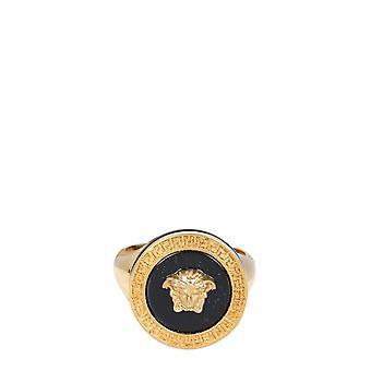 Versace Dg57285djmrk41t Men's Gold Metal Ring