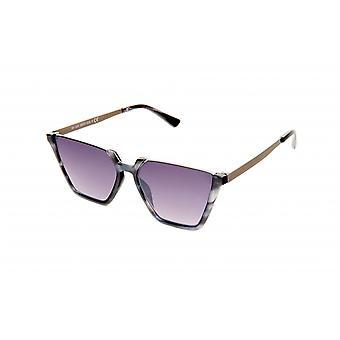 Gafas de sol mujeres rectangular púrpura flamed / oro (20-024)