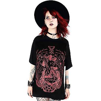 Restyle - lucifer bloedrood - dames t-shirt