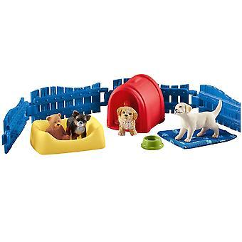Schleich Farm World - Dog farm with Puppies