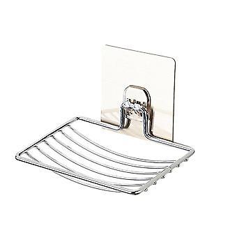 Nerezová mýdlová mísa pro koupelnový úložný stojan na mýdlo, nádobu na deskovou krabici