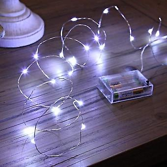 Led Strings Copper Wire Light - 3xaa Battery Operated Christmas Party