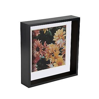Nicola Spring 8 x 8 3D Shadow Deep Box Photo Frame - Craft Display Picture Frame - Czarny