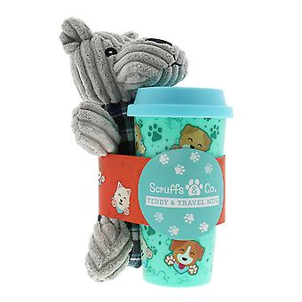 Scruffs & Co Teddy & Travel Mug Giftset