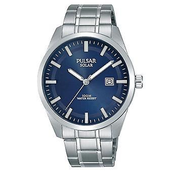 Pulsar Mens Solar Dress Bracelet Blue Dial 100M (Model No. PX3167X1)