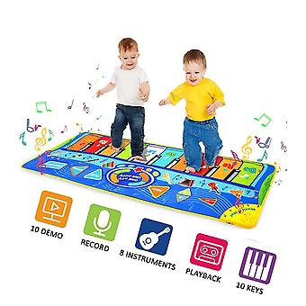 Dance-gaming-mat, Music-piano Keys Non-slip Dancing-mat, Musica multifunzione