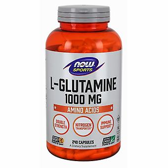 """עכשיו מכולות L-גלוטמין, 1000 מ""""ג, 240 כמוסות"""