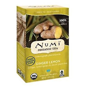 Numi Tea Decaf Green Tea, Ginger Lemon 16 bags