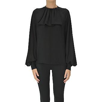Loewe Ezgl248031 Kvinder's Sort Silke Bluse