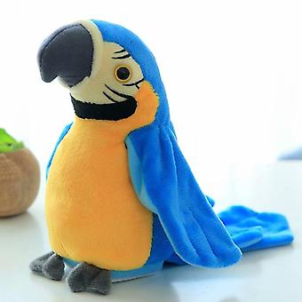 25cm Electronic Parrot Soft Plush Toy (waving Wings/talking/speaking And