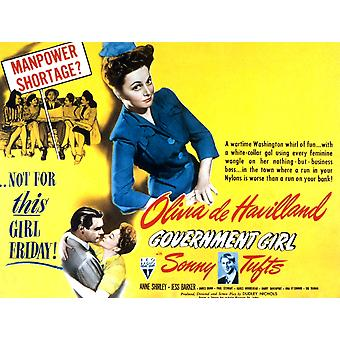 Government Girl Olivia De Havilland Sonny Tufts 1943 Movie Poster Masterprint