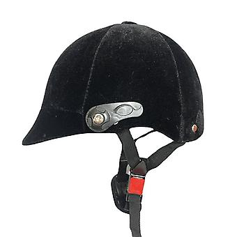 Half-covered Horse Riding Helmet Adjustable For Safety Equipment (black)